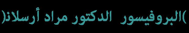 Prof.Dr. مراد أرسلان